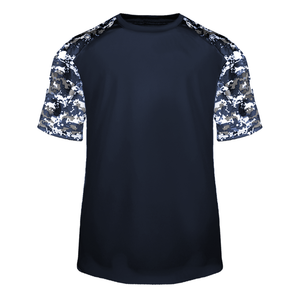 Navy/Navy Badger 4152 Digital Sport Tee