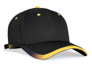 Black/Gold Pacific 416L Lite Series Running Cap