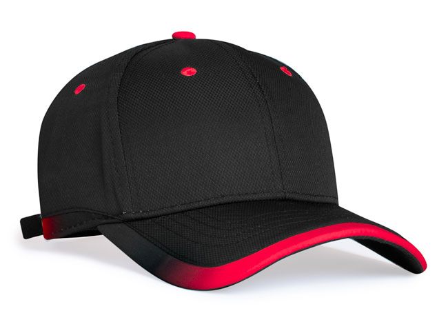 Black/Red  Pacific 416L Lite Series Running Cap