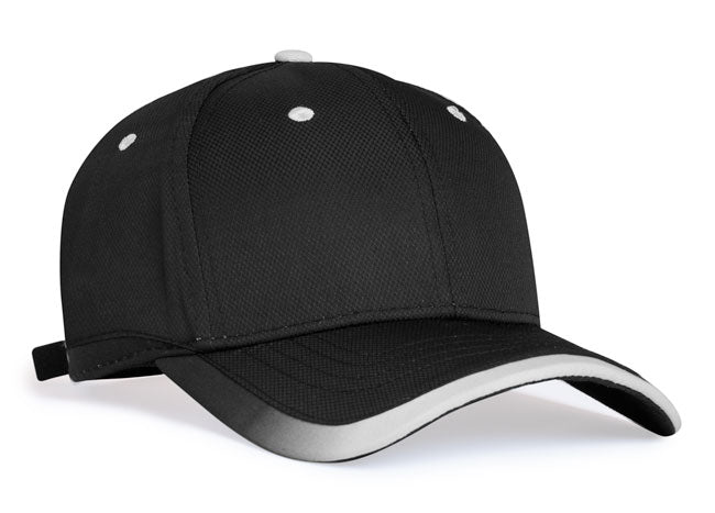 Black/White Pacific 416L Lite Series Running Cap