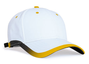 White/Gold Pacific 416L Lite Series Running Cap