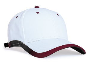 White/Maroon Pacific 416L Lite Series Running Cap