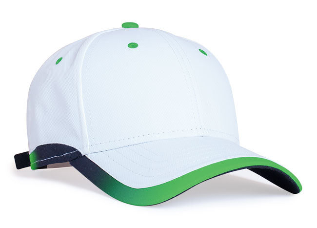 White/Neon Green Pacific 416L Lite Series Running Cap