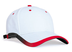 White/Red Pacific 416L Lite Series Running Cap