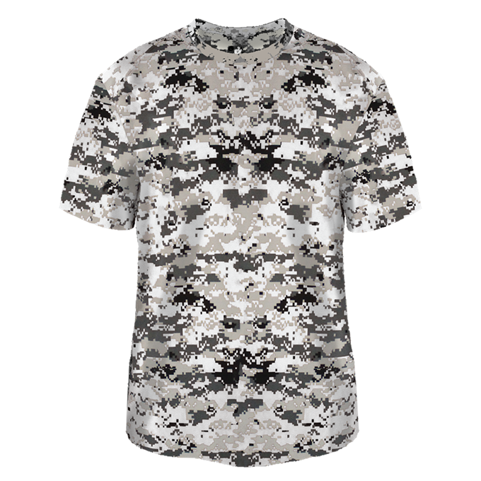 White Badger 2180 Youth Digital Tee
