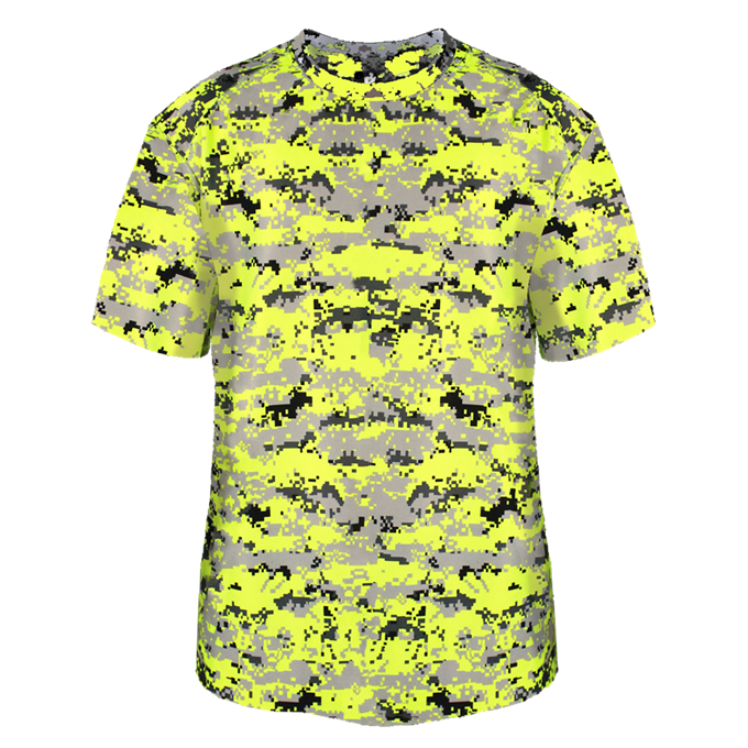Safety-Yellow Badger 2180 Youth Digital Tee