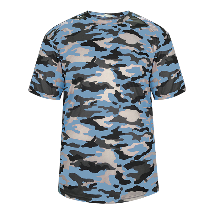Columbia Blue Badger 4181 Camo Tee