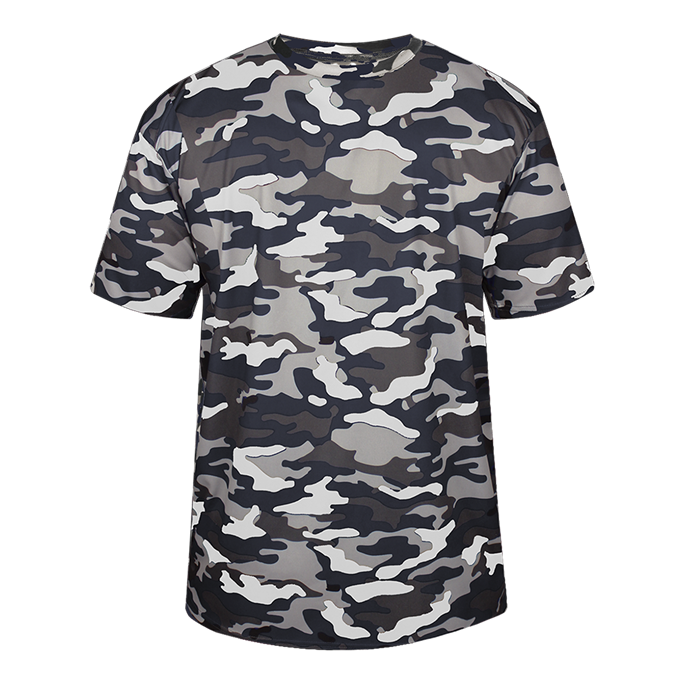 Navy Badger 2181 Camo Youth Tee