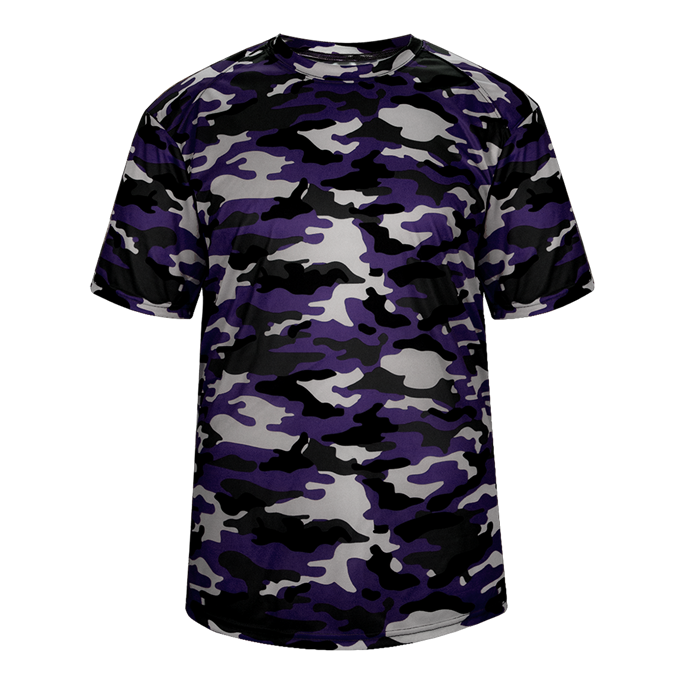 Purple Badger 4181 Camo Tee