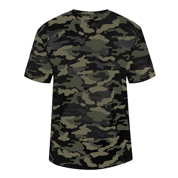 Black Badger 2181 Camo Youth Tee