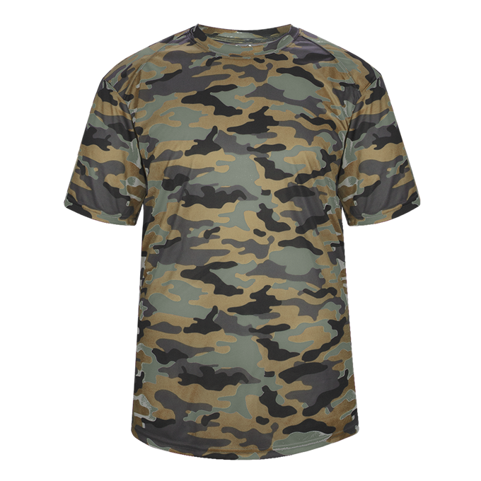 OD Green Badger 2181 Camo Youth Tee