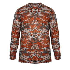 Burnt Orange Badger 4184 Digital Long Sleeve Tee