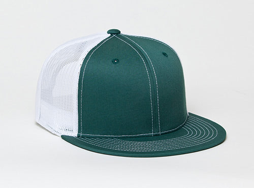 Dark Green/White Pacific 4D3 D-Series ADJ. Trucker