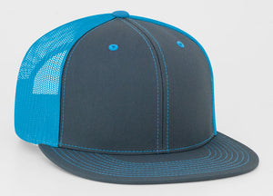 Graphite/Neon Blue Pacific 4D3 D-Series ADJ. Trucker