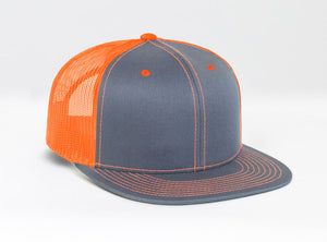 Graphite/White/Neon Orange Pacific 4D3 D-Series ADJ. Trucker
