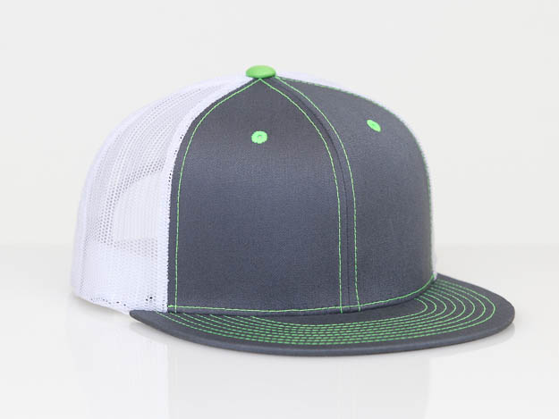 Graphite/White/Neon Green Pacific 4D3 D-Series ADJ. Trucker