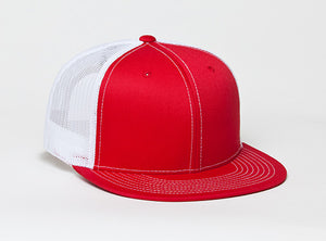 Red/White Pacific 4D3 D-Series ADJ. Trucker