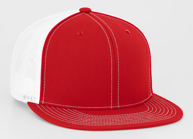 Red/White Pacific 4D5 D-Series Universal Trucker