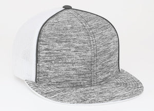 Graphite Heather/White Pacific 4D6 Heather Trucker Mesh