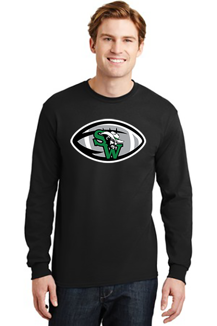 SW Football Men's and Youth 100% Cotton Long Sleeve T-Shirt