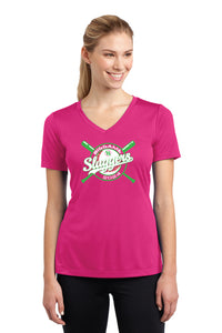 BG Sluggers Ladies Short Sleeve V-Neck