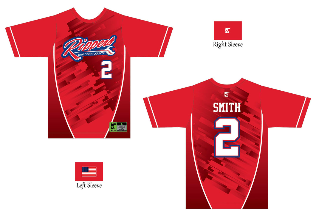 Red Game Jersey