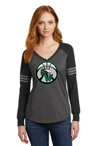 SW Basketball Ladies Game Long Sleeve V-Neck Tee