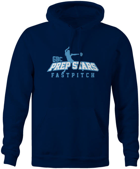 Navy Prep Stars Fast Pitch Cotton/Poly Hoodie
