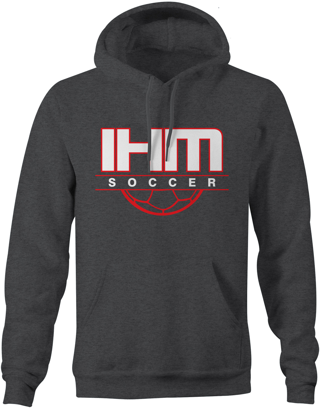Dark Heather Soccer Cotton Hoodie