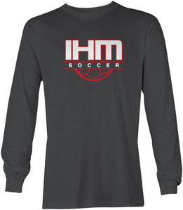 Dark Heather Soccer Long Sleeve T-Shirt