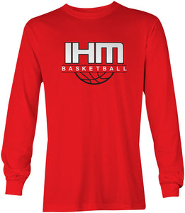 Red Basketball Long Sleeve T-Shirt