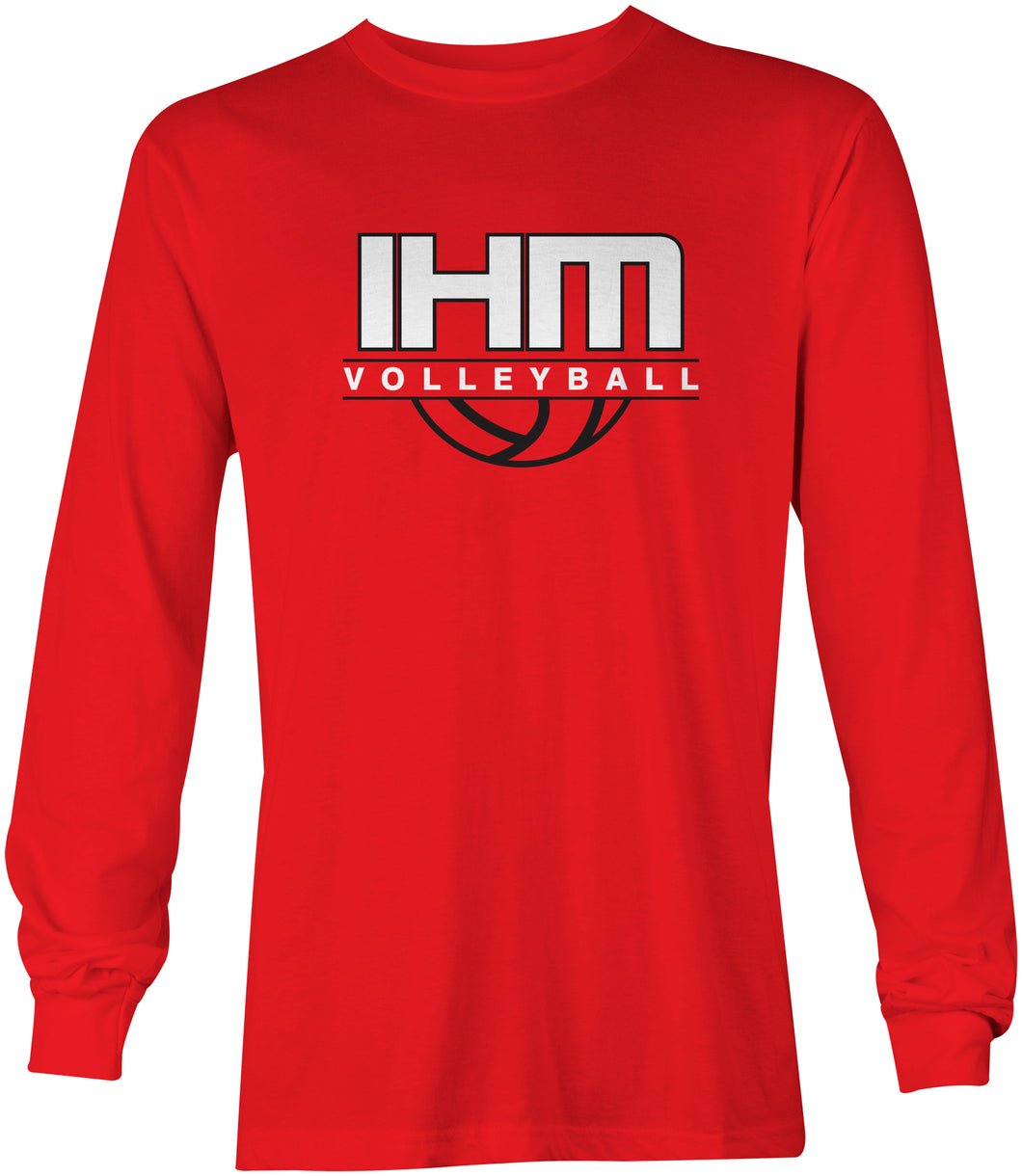 Red Volleyball Long Sleeve T-Shirt
