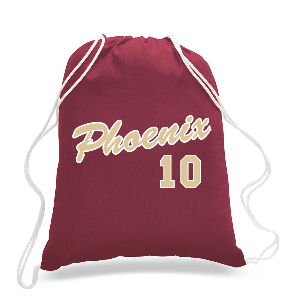 Personalized Jersey Cinch Bag