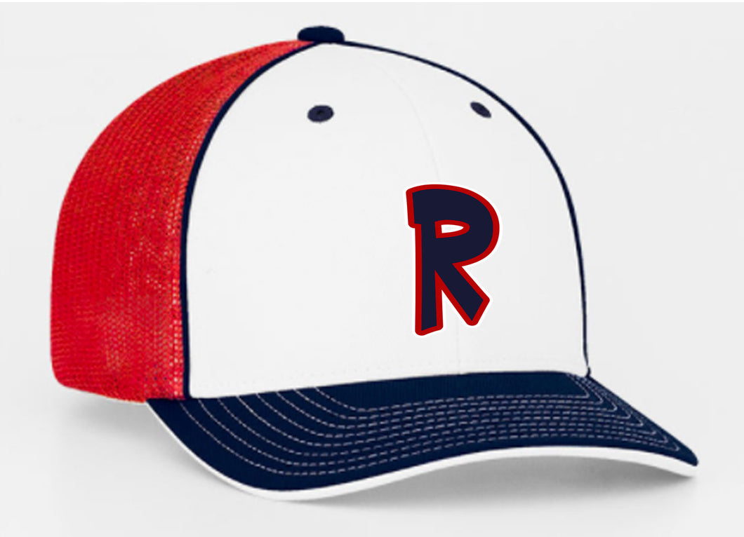 White/Red Logo Hat