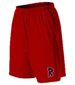 Red Logo Shorts With Pockets