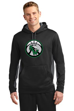 SW Basketball Adult and Youth Fleece Colorblock Hooded Pullover