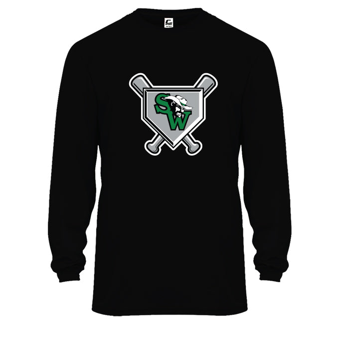 Black Long Sleeve Performance Tee