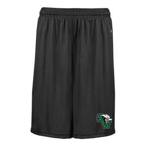 Black Pocketed Shorts