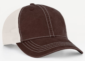 Brown/Ivory Pacific V67 Vintage Trucker Mesh