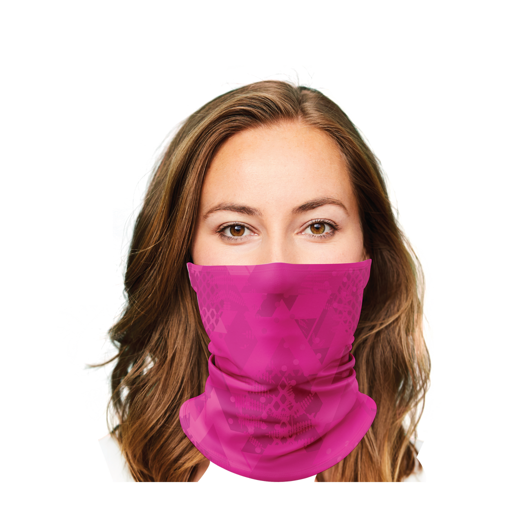 Abstract Pink Camo Gaiter Face Mask
