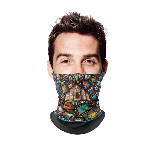 Back 2 School Dark Gaiter Face Mask