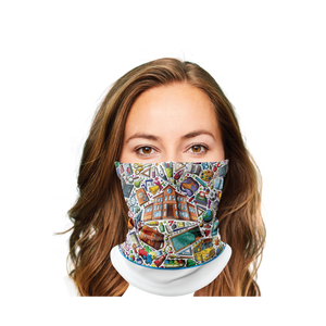 Back 2 School White Gaiter Face Mask