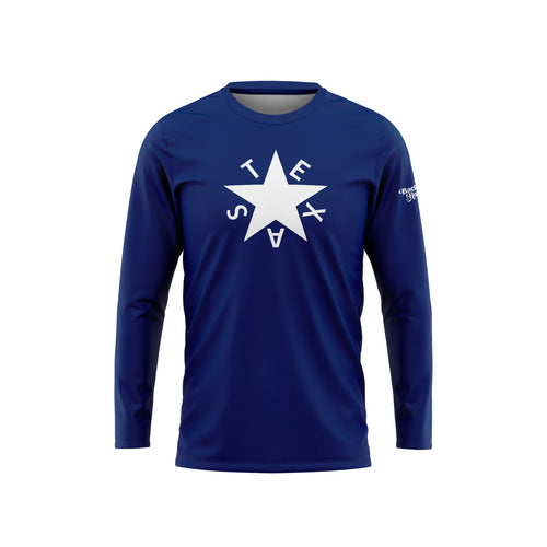 First Republic of Texas Flag Long Sleeve Performance Tee