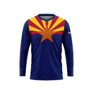 Arizona Flag Long Sleeve Performance Tee
