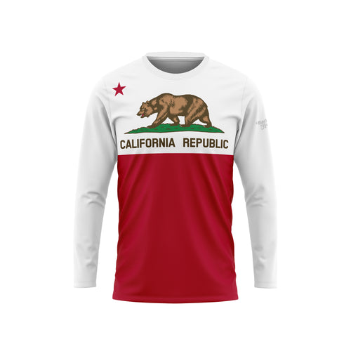 California Flag Long Sleeve Performance Tee