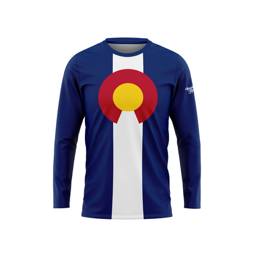 Colorado Flag Long Sleeve Performance Tee