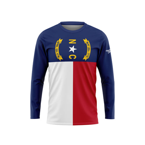 North Carolina Flag Long Sleeve Performance Tee