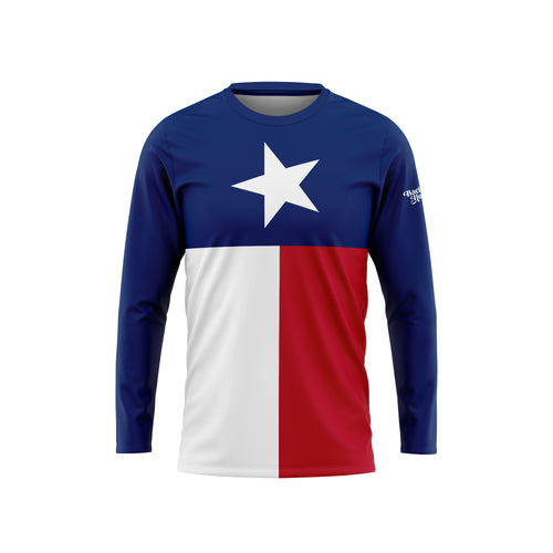 Texas Flag Long Sleeve Performance Tee