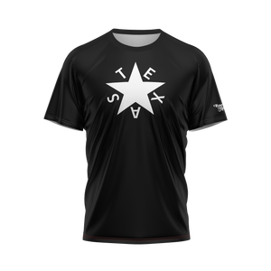 Black First Republic of Texas Flag Performance Tee