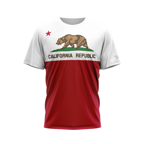 California Flag Performance Tee